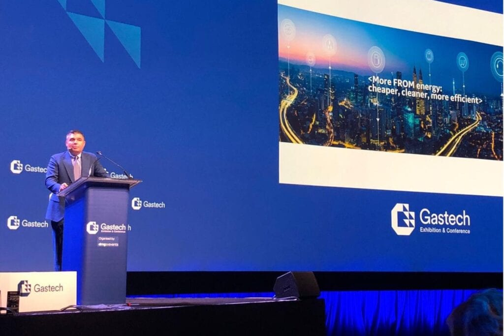 Lorenzo Simonelli of BH talks about the future of energy at Gastech, on Experience Energy