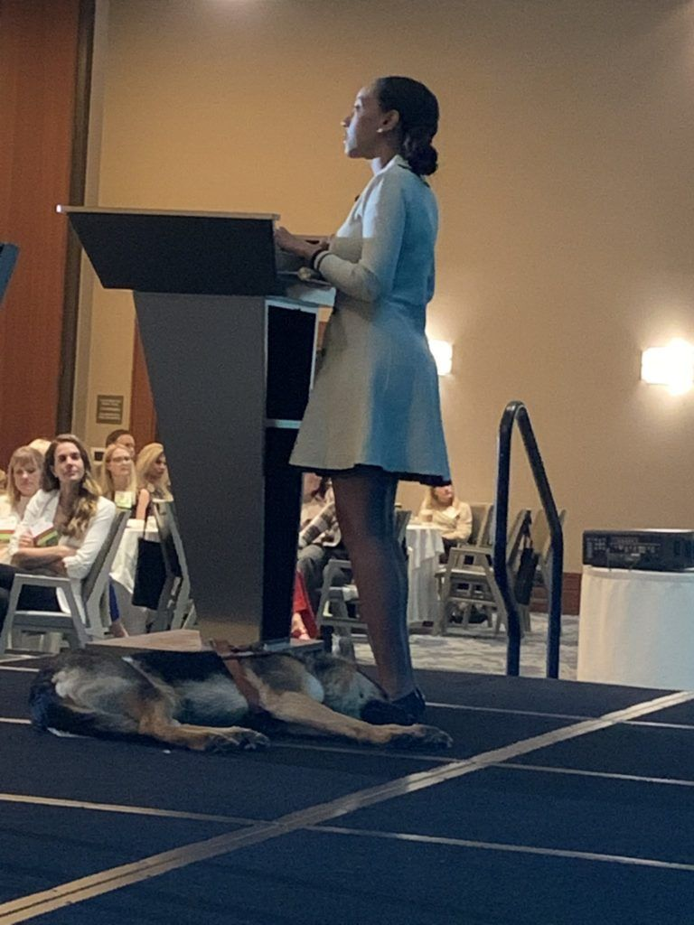 Priceless #GRIT2019 photo. @HabenGirma speaks and the dog sleeps. What an amazing #keynote