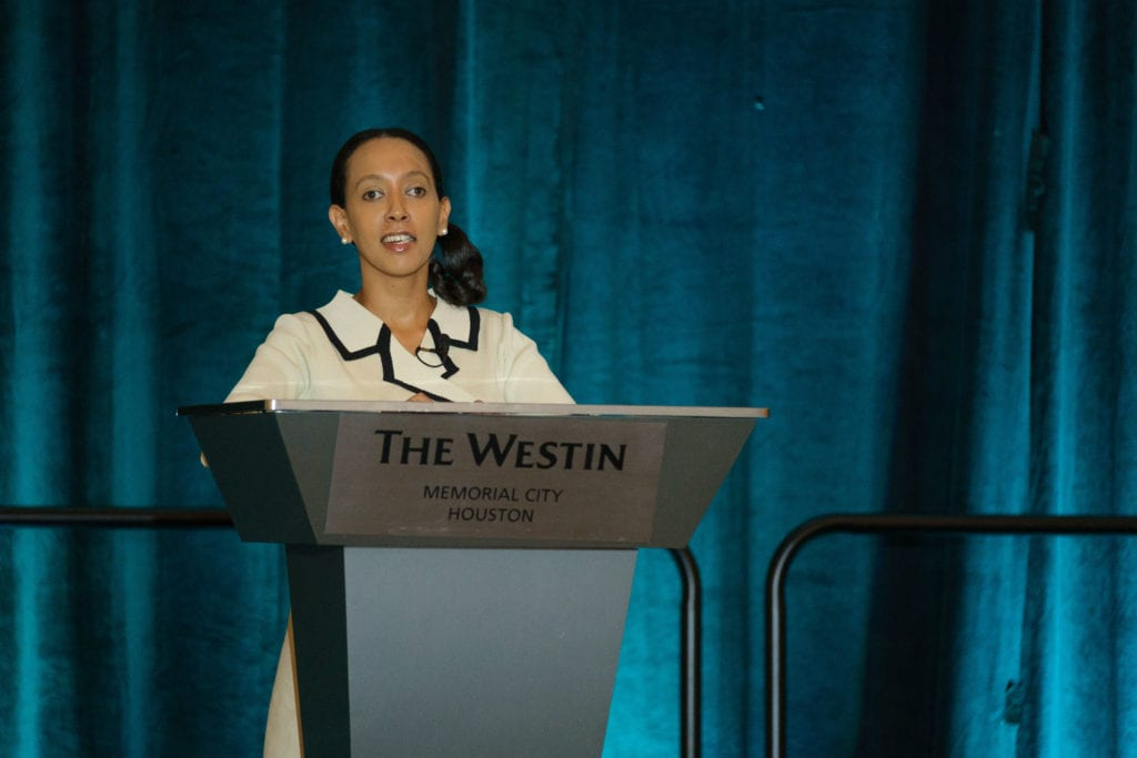 Haben Girma delivers a profound keynote address at the GRIT Awards and Best Energy Workplaces, put on by Experience Energy.